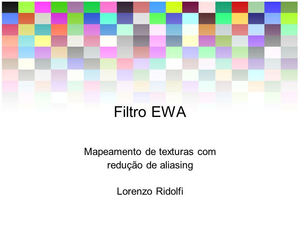 Mapeamento de texturas com redução de aliasing Lorenzo Ridolfi