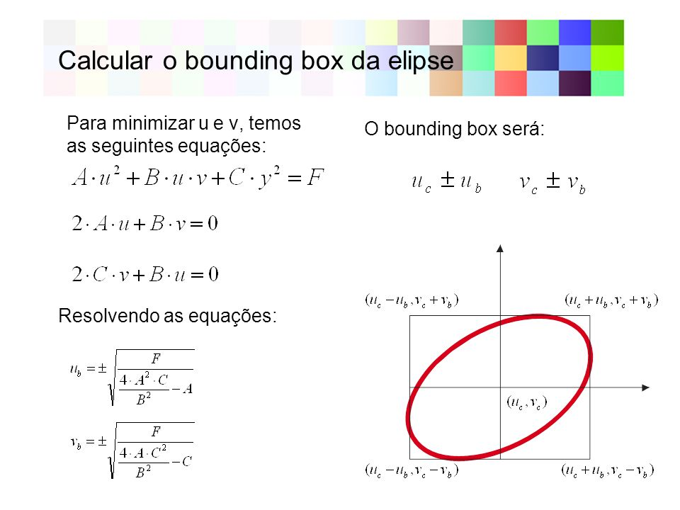 Calcular o bounding box da elipse