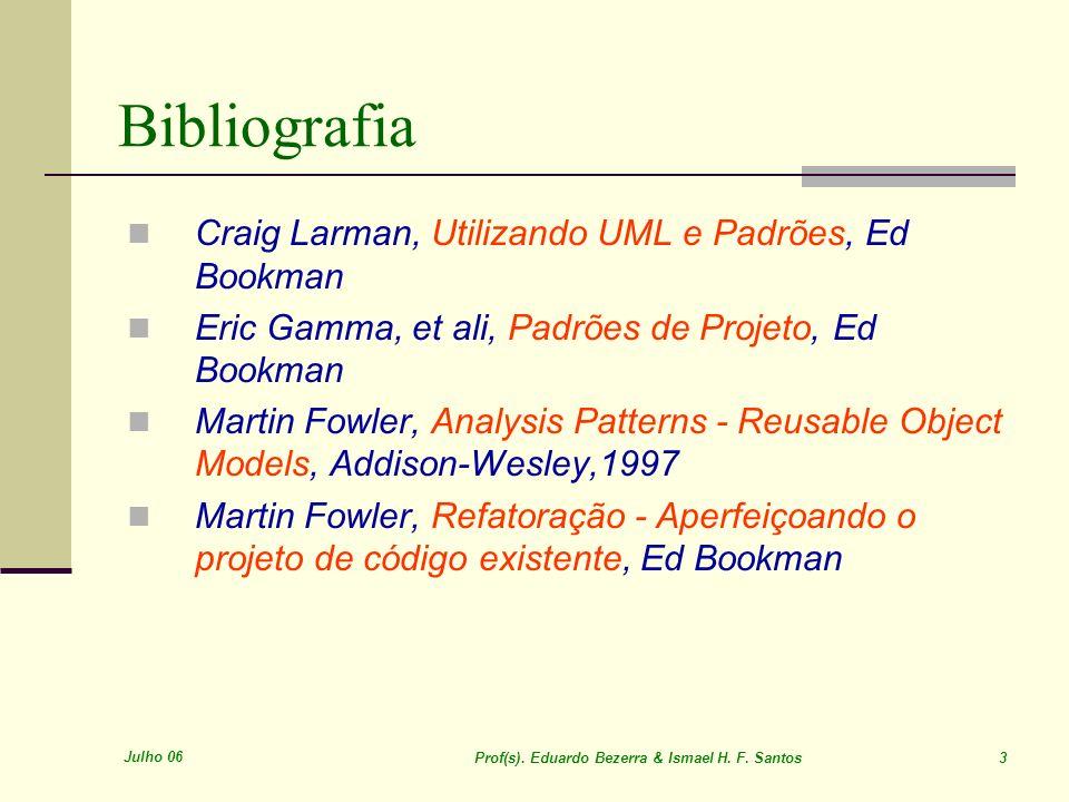 Bibliografia Craig Larman, Utilizando UML e Padrões, Ed Bookman