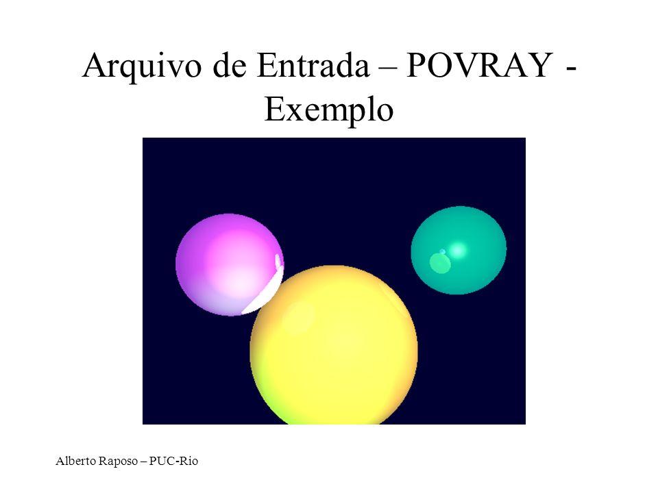 Arquivo de Entrada – POVRAY - Exemplo