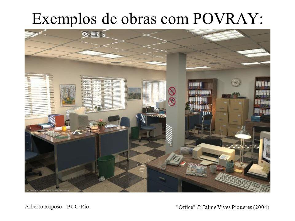 Exemplos de obras com POVRAY: