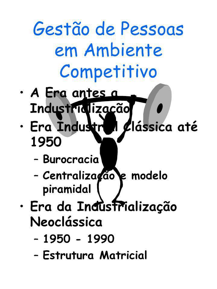 Gestão de Pessoas em Ambiente Competitivo