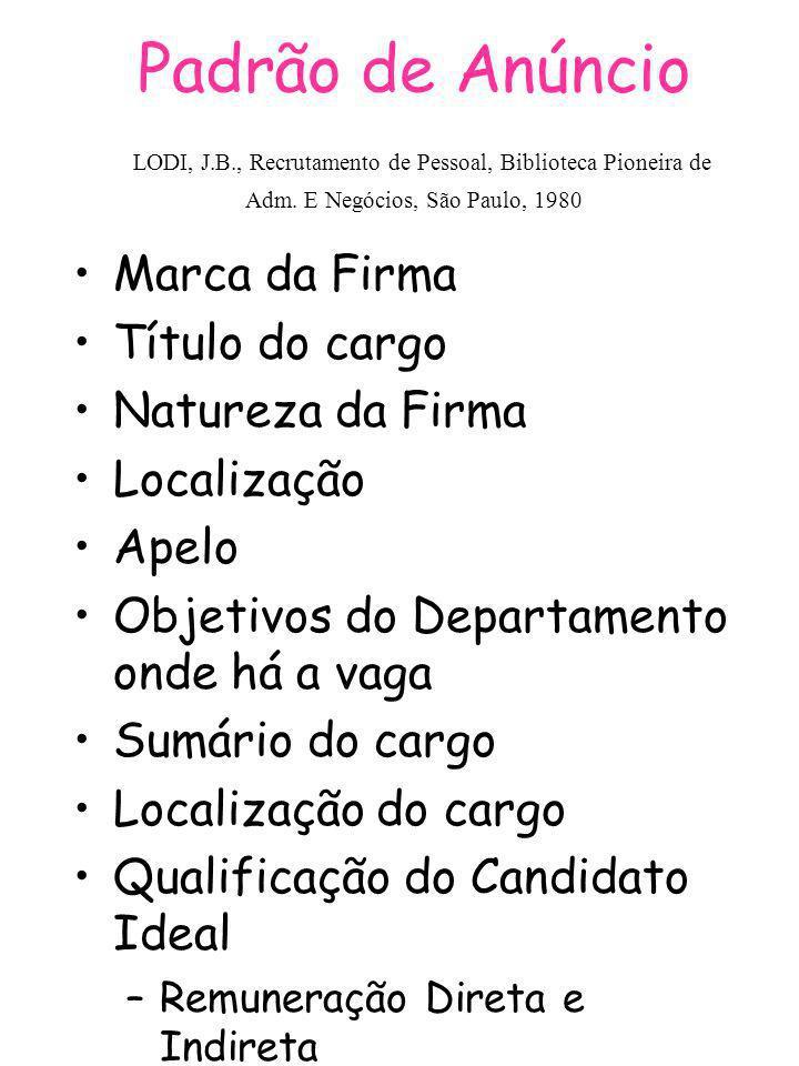 Padrão de Anúncio LODI, J. B