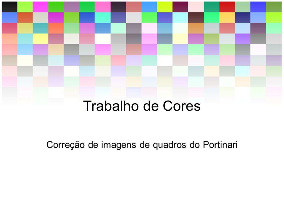 Correção de imagens de quadros do Portinari
