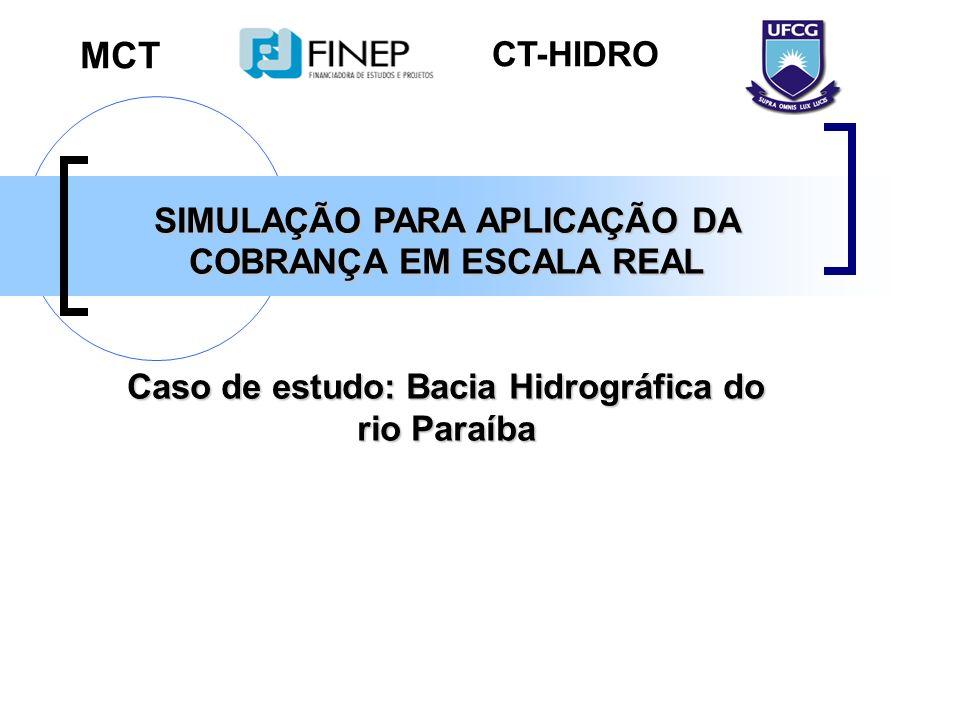 MCT CT-HIDRO SIMULAÇÃO PARA APLICAÇÃO DA COBRANÇA EM ESCALA REAL