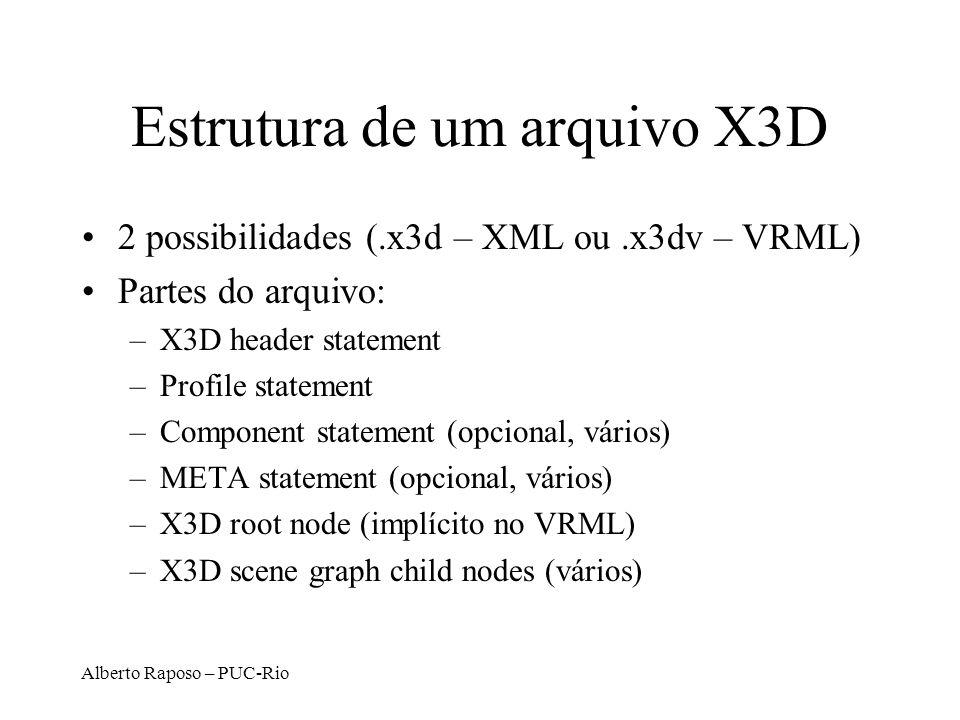 Estrutura de um arquivo X3D