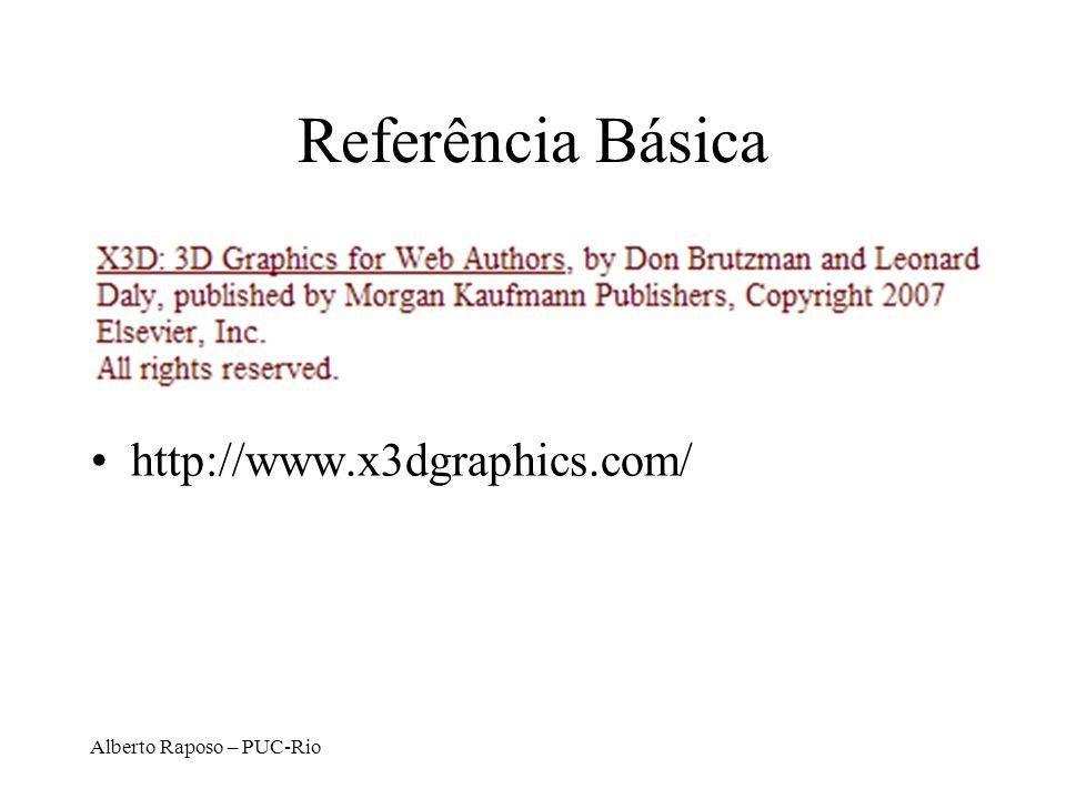 Referência Básica http://www.x3dgraphics.com/ Alberto Raposo – PUC-Rio