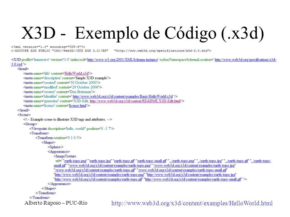 X3D - Exemplo de Código (.x3d)