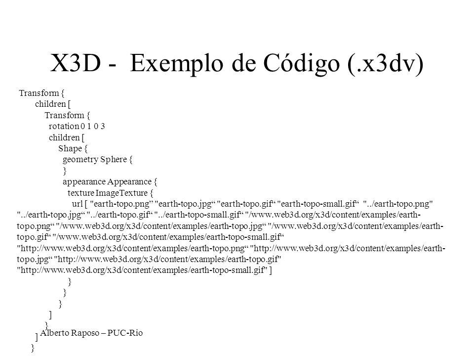 X3D - Exemplo de Código (.x3dv)