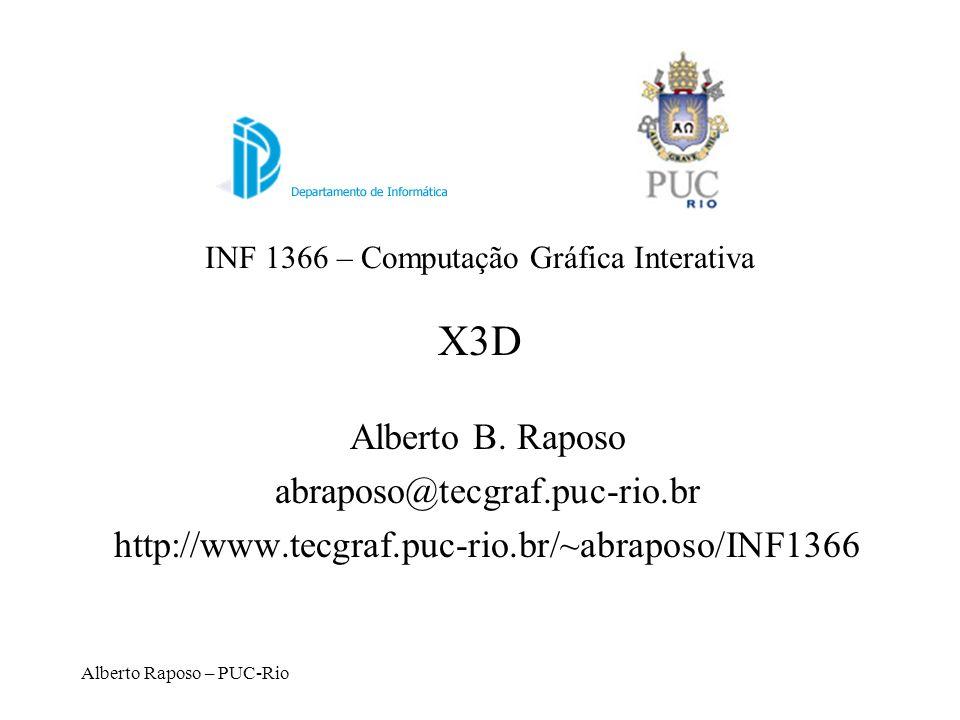 INF 1366 – Computação Gráfica Interativa X3D