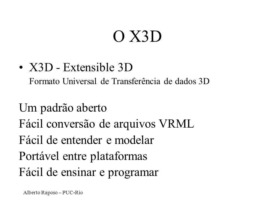 O X3D X3D - Extensible 3D Um padrão aberto