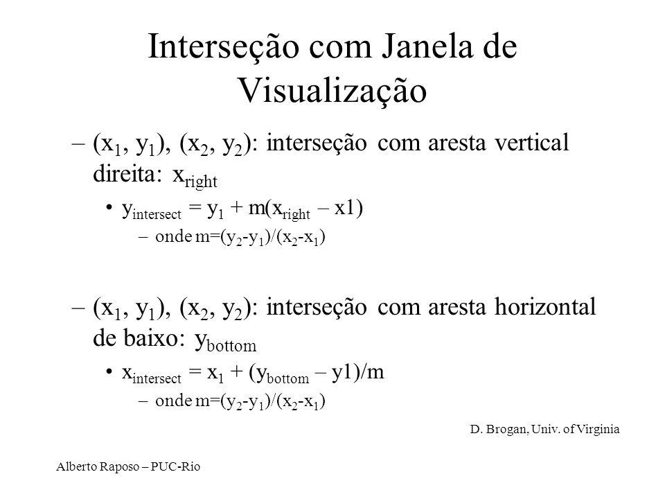 Interseção com Janela de Visualização
