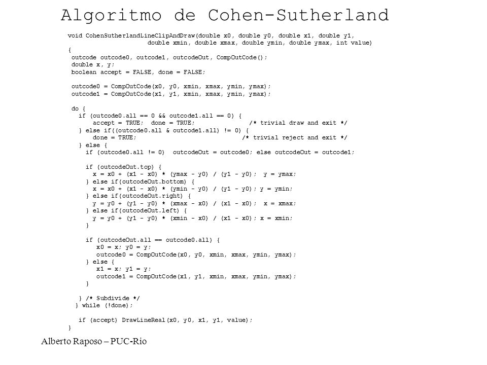 Algoritmo de Cohen-Sutherland