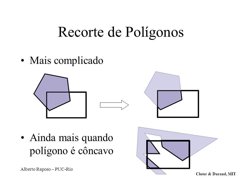 Recorte de Polígonos Mais complicado