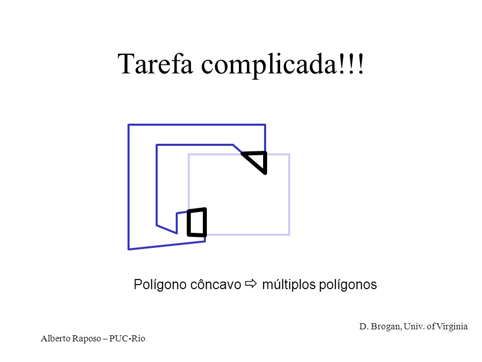 Tarefa complicada!!! Polígono côncavo  múltiplos polígonos