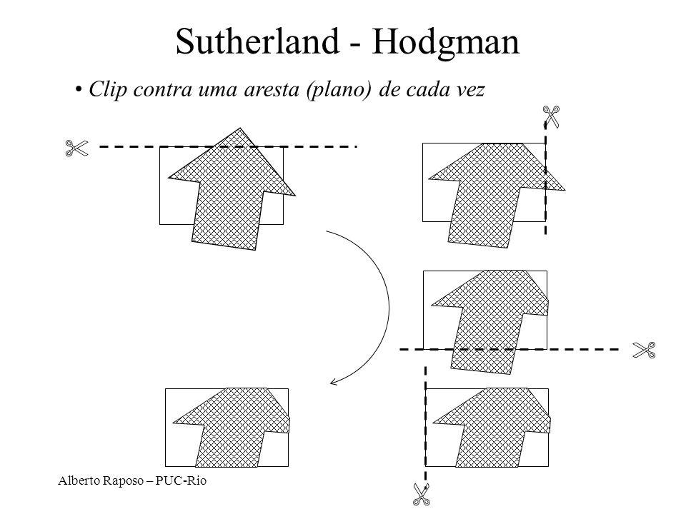 Sutherland - Hodgman Clip contra uma aresta (plano) de cada vez   