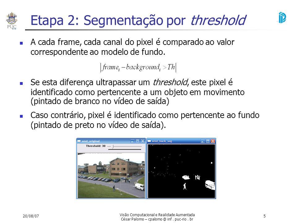 Etapa 2: Segmentação por threshold