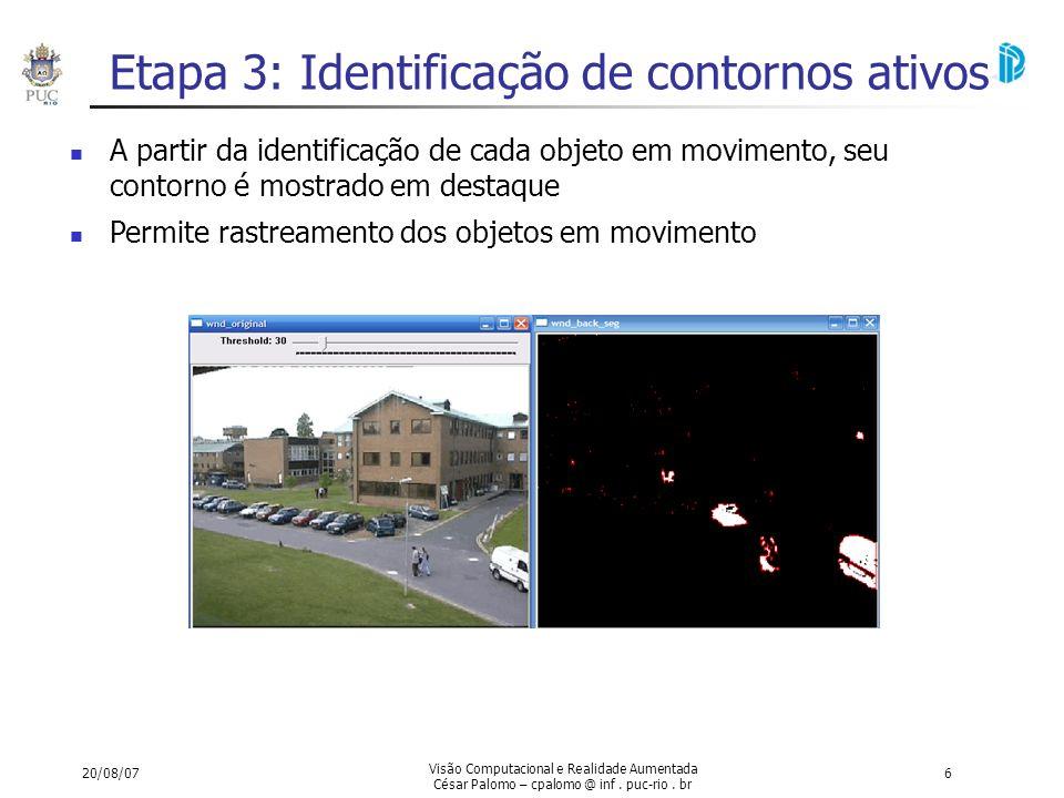 Etapa 3: Identificação de contornos ativos