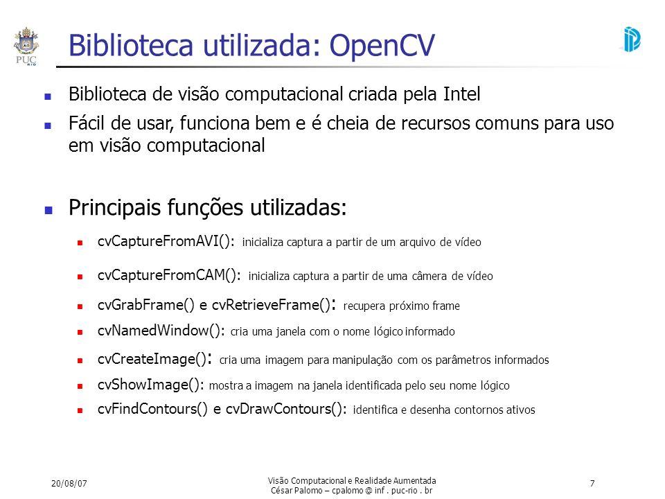 Biblioteca utilizada: OpenCV