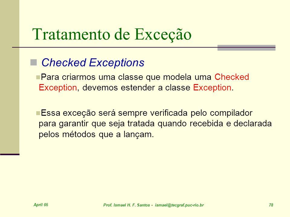 Tratamento de Exceção Checked Exceptions