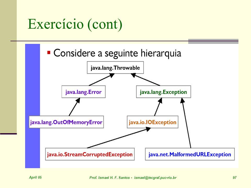 Exercício (cont) April 05