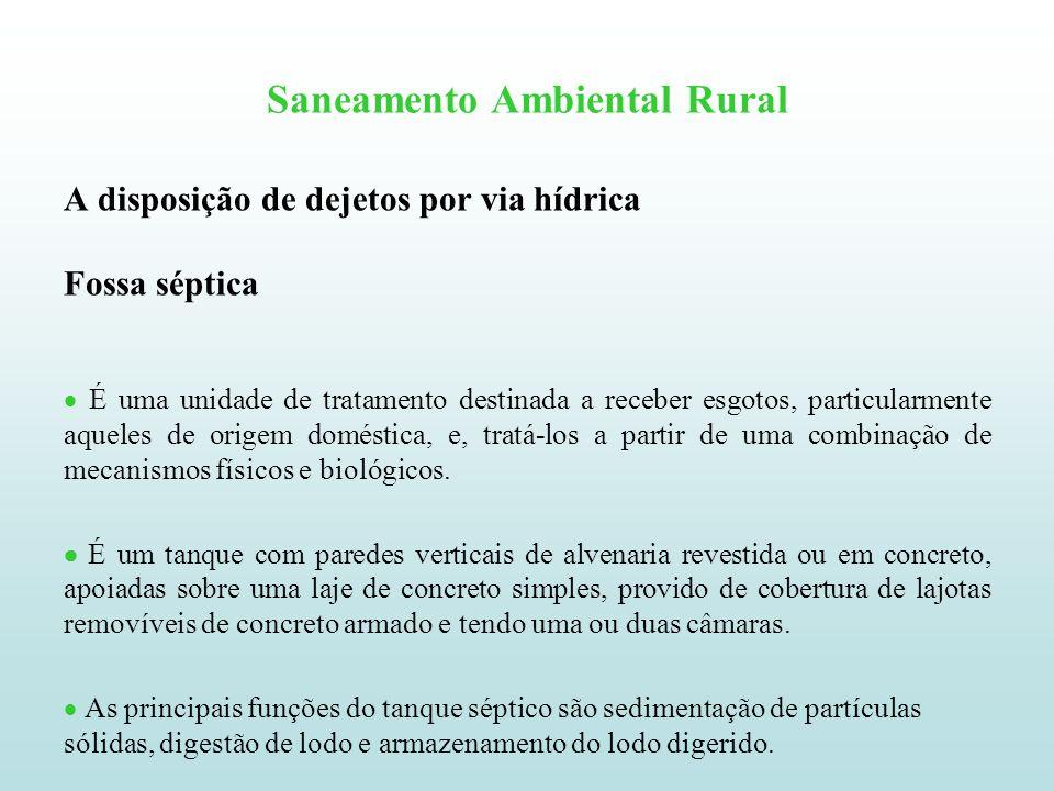 Saneamento Ambiental Rural