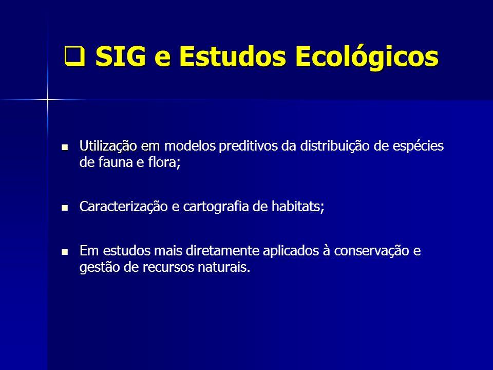 SIG e Estudos Ecológicos