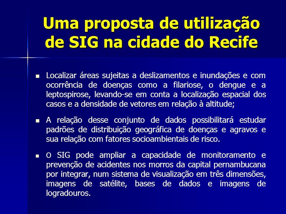 Uma proposta de utilização de SIG na cidade do Recife
