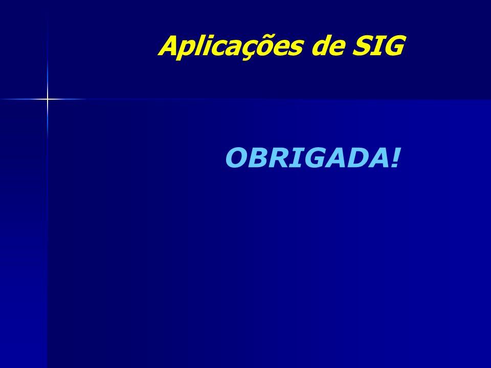 Aplicações de SIG OBRIGADA!