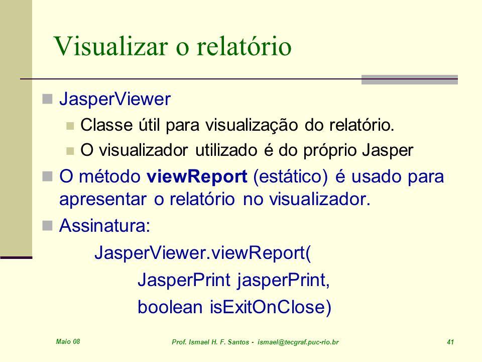 Visualizar o relatório