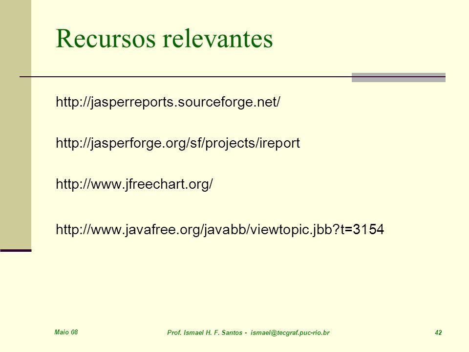 Recursos relevantes http://jasperreports.sourceforge.net/