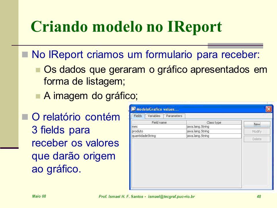 Criando modelo no IReport