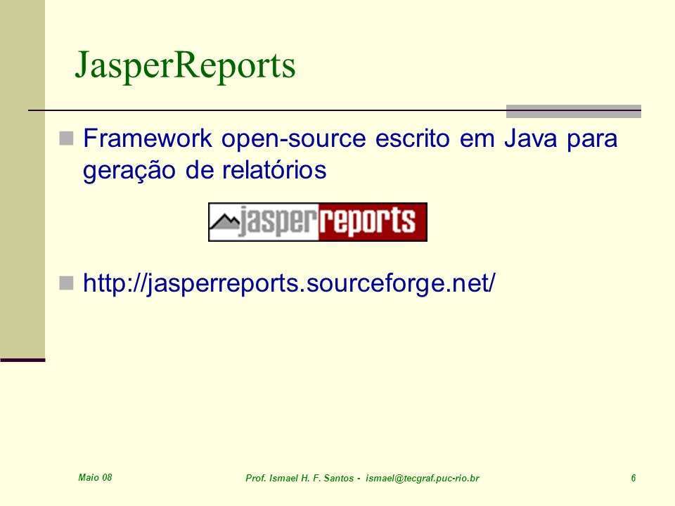 JasperReports Framework open-source escrito em Java para geração de relatórios. http://jasperreports.sourceforge.net/