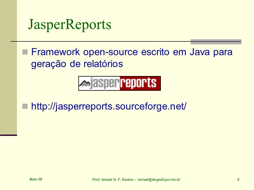 JasperReportsFramework open-source escrito em Java para geração de relatórios. http://jasperreports.sourceforge.net/