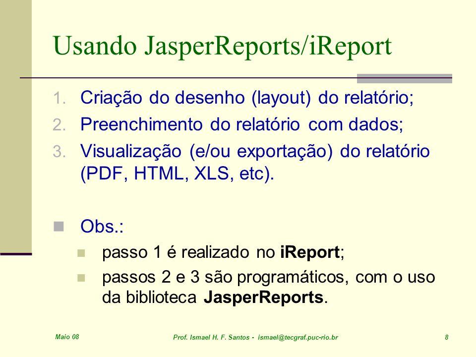 Usando JasperReports/iReport