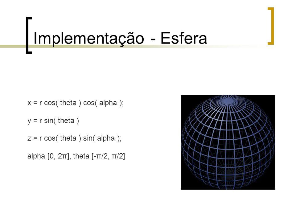 Implementação - Esfera