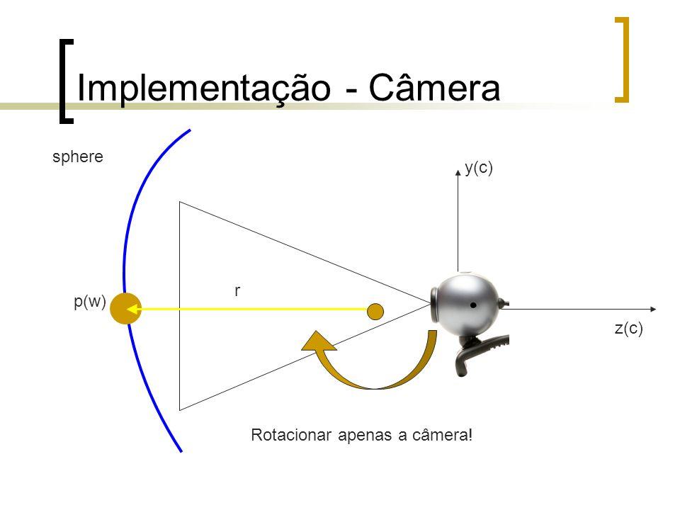 Implementação - Câmera