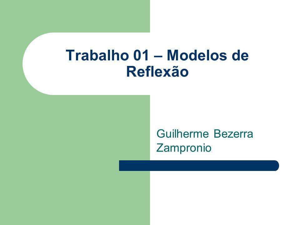 Trabalho 01 – Modelos de Reflexão