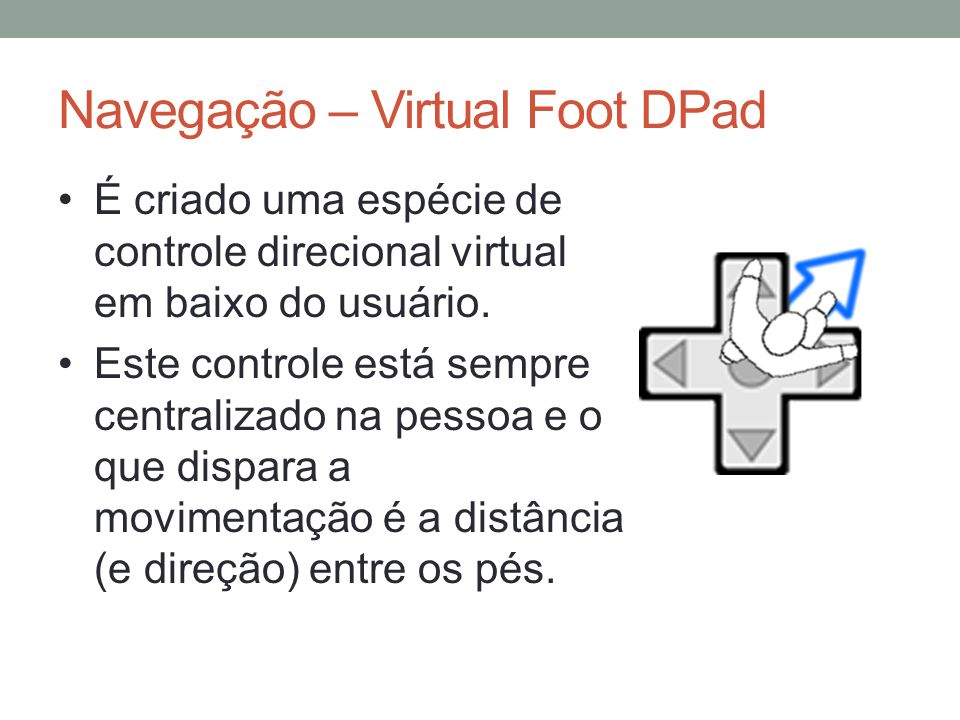 Navegação – Virtual Foot DPad