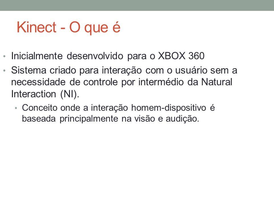 Kinect - O que é Inicialmente desenvolvido para o XBOX 360