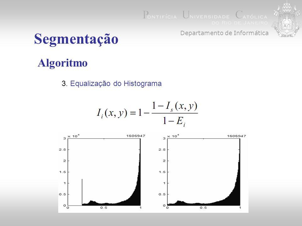 Segmentação Algoritmo 3. Equalização do Histograma