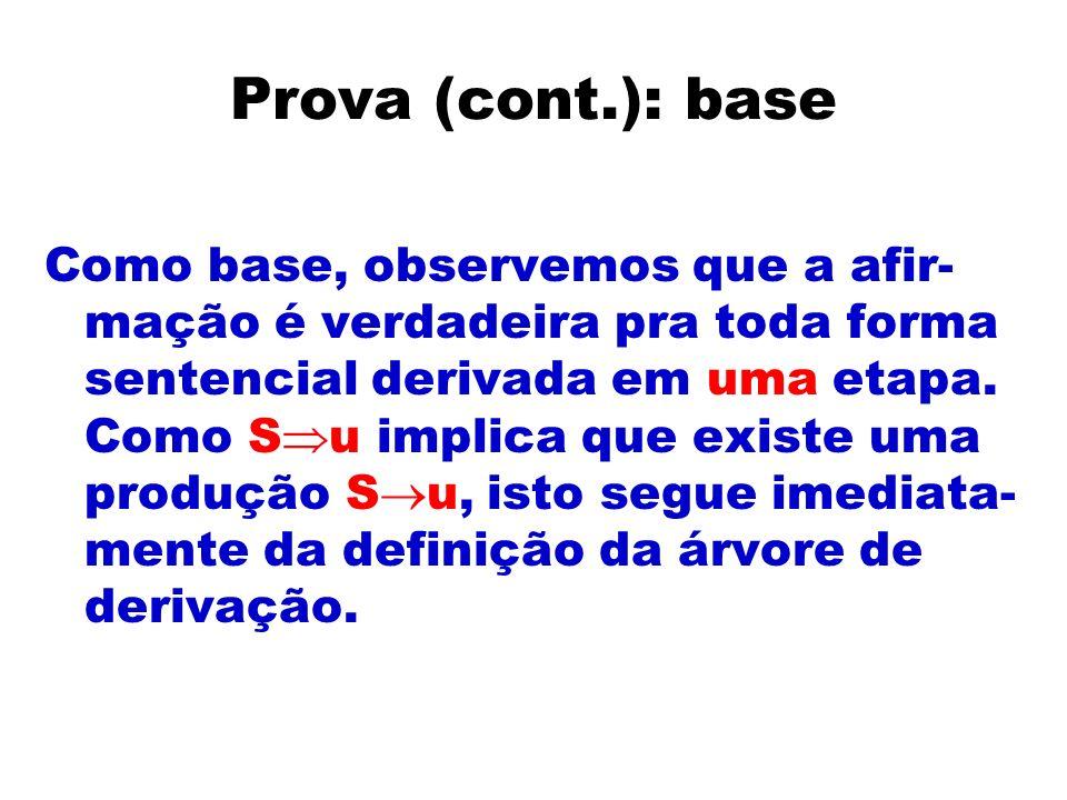 Prova (cont.): base