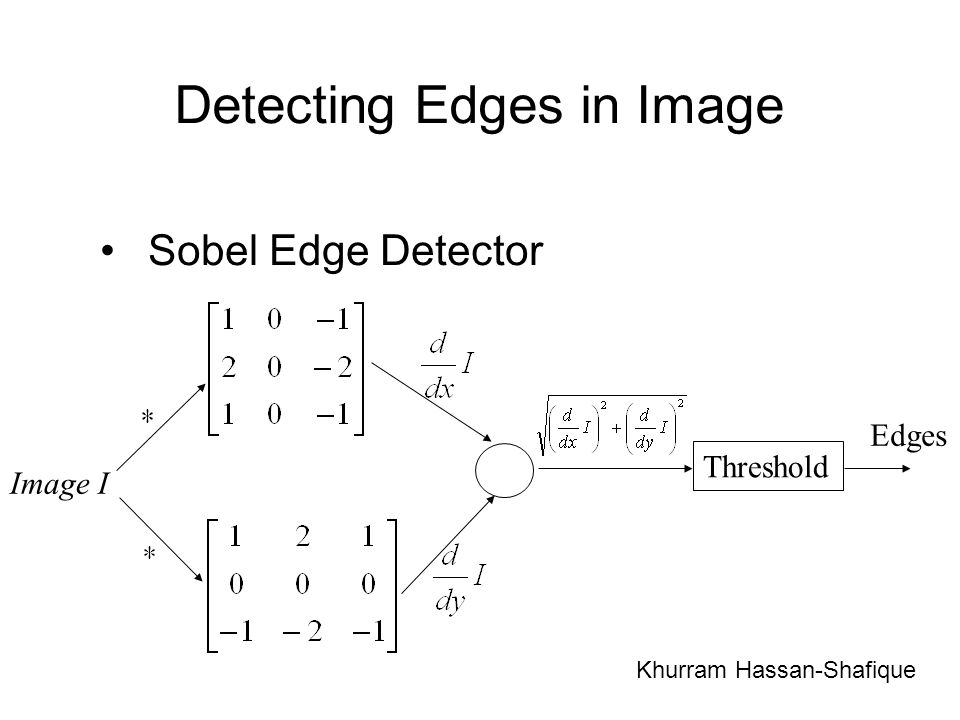 Detecting Edges in Image