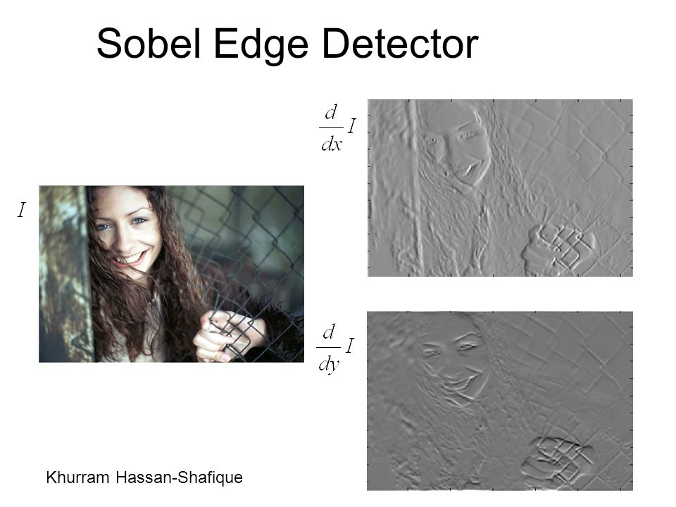 Sobel Edge Detector Khurram Hassan-Shafique