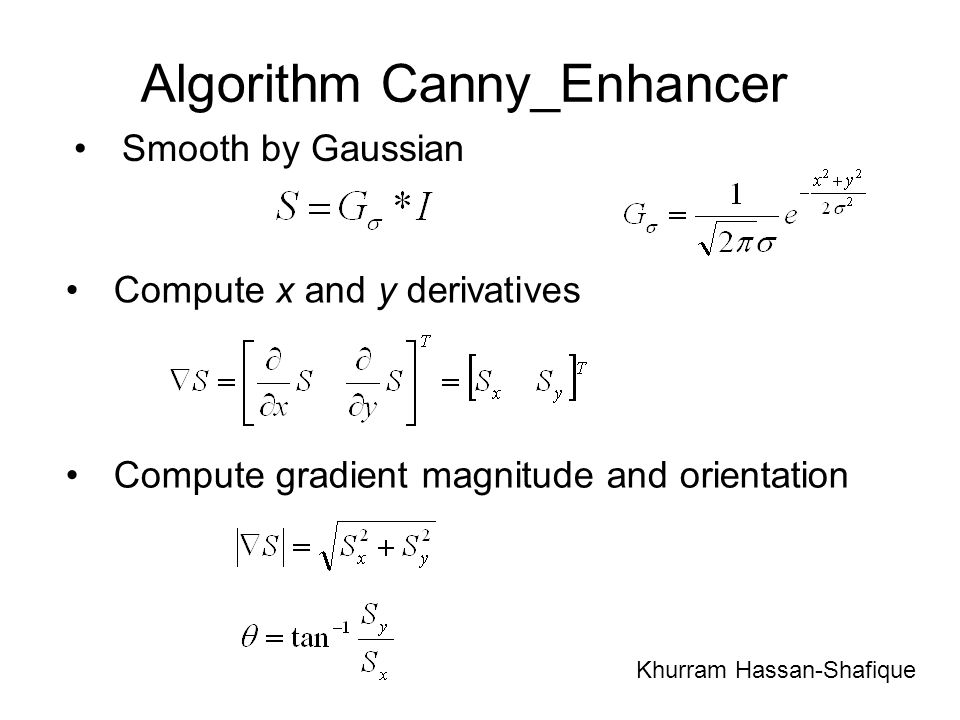 Algorithm Canny_Enhancer