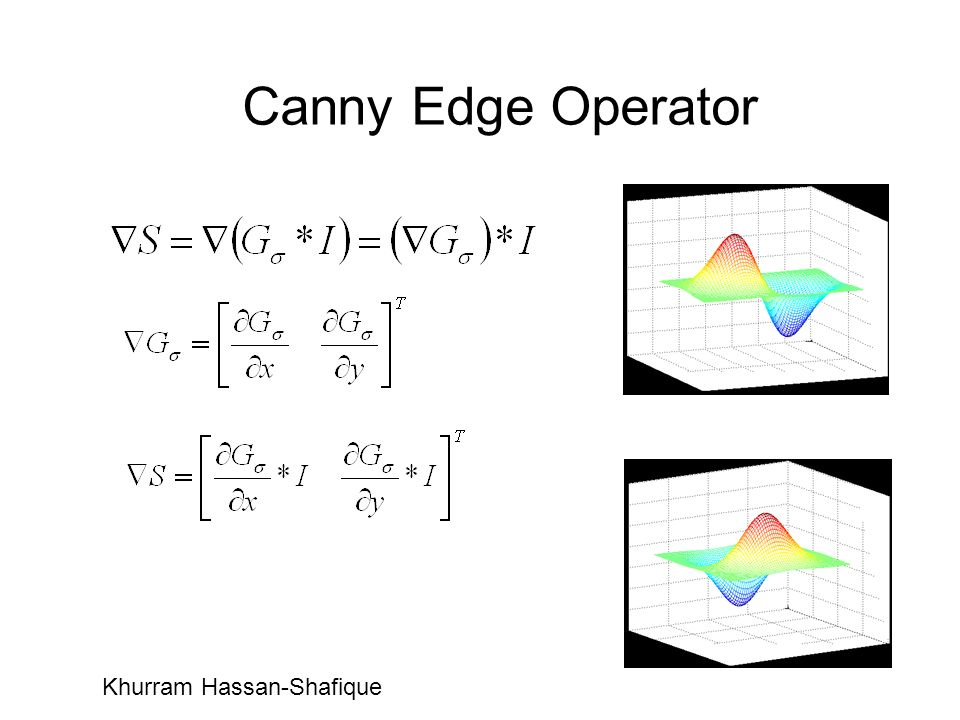 Canny Edge Operator Khurram Hassan-Shafique
