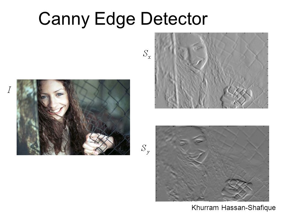 Canny Edge Detector Khurram Hassan-Shafique