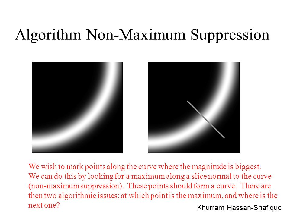 Algorithm Non-Maximum Suppression