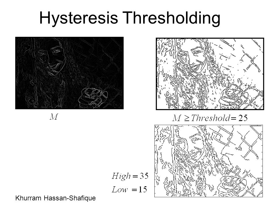 Hysteresis Thresholding