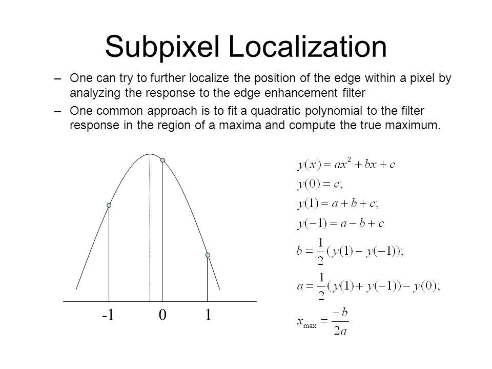 Subpixel Localization
